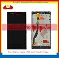 Original para nokia lumia 720 display lcd touch screen digitador com frame assembléia frete grátis completo.