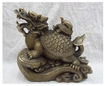 Bronze home decoration Brass 8  Bronze riqueza YuanBao Coin tartaruga longevidade em RuYi Bronze home decoration Brass 8  Bronze riqueza YuanBao Coin tartaruga longevidade em RuYi