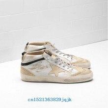 Italy GOLDEN GOOSE Deluxe Brand MID STAR Sneakers G30MS634.G1 men women do  old Skateboarding 3e854951eb3c