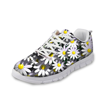 NOISYDESIGNS Fashion Floral Style Women Casual Sneakers 3D Flower Printing flat Mesh Shoes Zapatos Mujer Female 2018