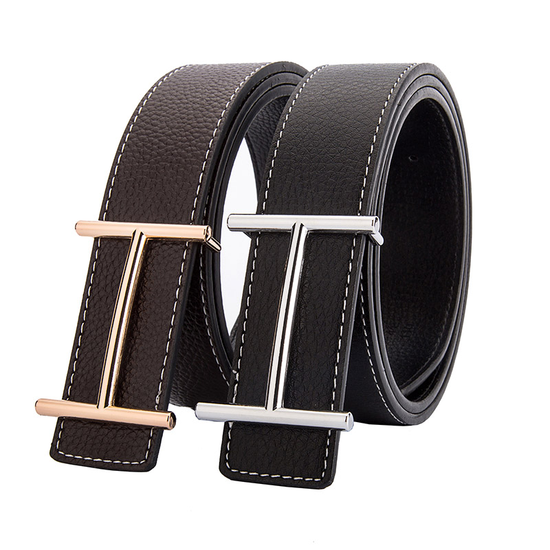 2018 New Designers Luxury Brand H Buckle Mens Casual   Belts   High Quality Smooth Buckle Male Strap Waist   Belt   Men Gift