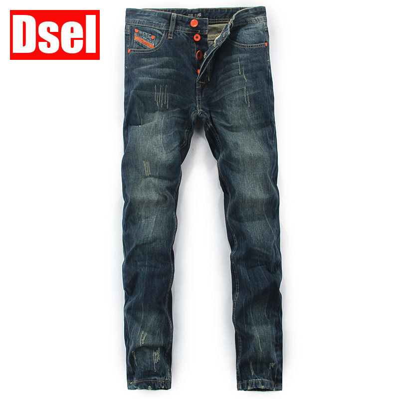 DSEL brand new men jeans straight fashion jeans cotton solid color wild men of good quality jeans casual pants free shipping  цена