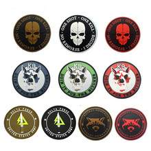 3D PVC K9 SERVICE DOG One Shot Kill Tactical USA Army Morale Patch Hook&Loop Appliques Rubber Decorative Badge