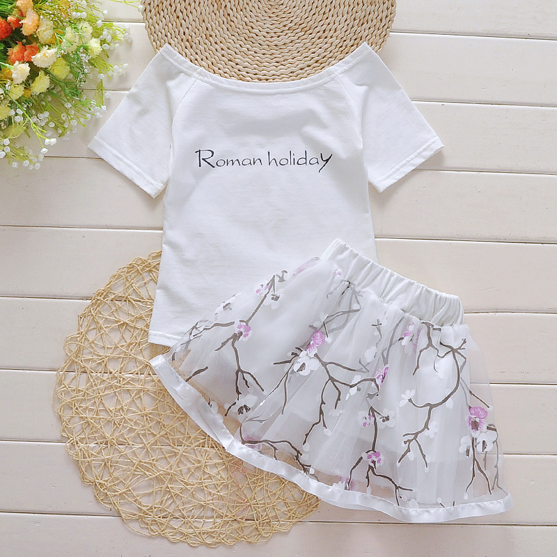 2016 Summer Baby Girl Infant 2pcs Clothing Sets Suit Princess Tutu Romper Dress Jumpersuit kids Party Birthday Costumes Vestidos