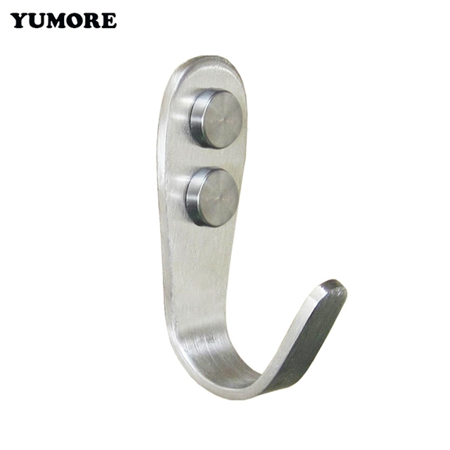 10pcs Brushed Stainless Steel Single Robe Coat Hooks Clothes Hanger Decorative Srew Wall Mounting