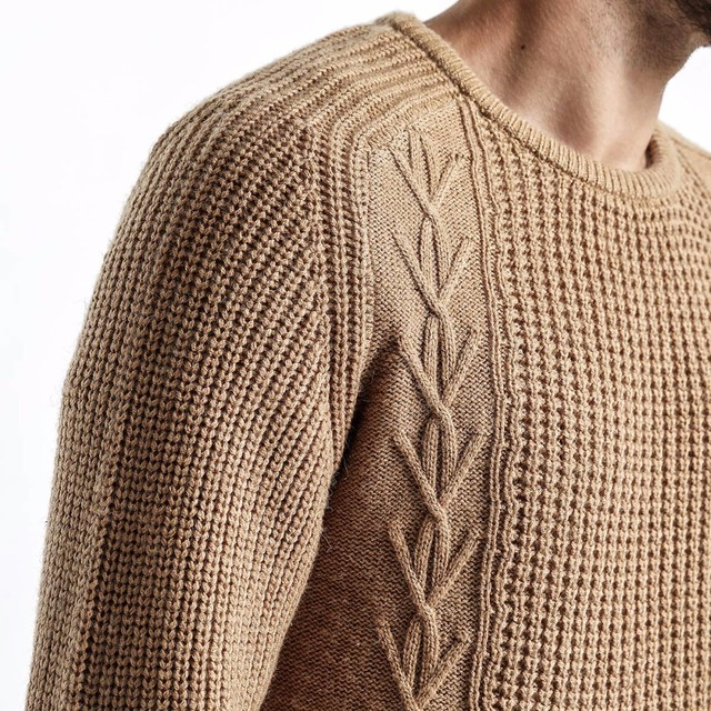 Men Slim Fit Knitted Pullovers Casual  Sweater 2