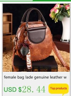 couro genuíno alta qualidade borla sacos de