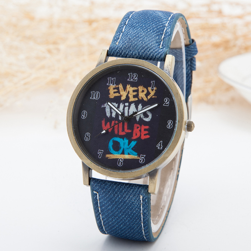 Fashion Brand Quartz Watches Graffiti Pattern Cartoon Watch Women Casual Vintage Leather Girls Kids Wristwatches Gifts Clock