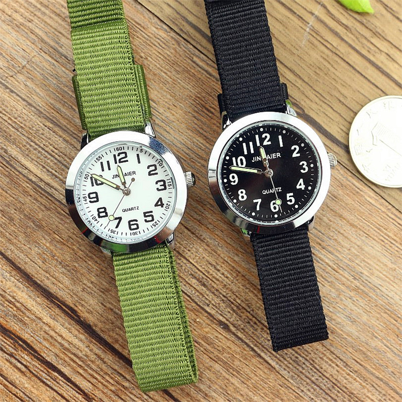 Simple Design Boys And Girls Learn To Time Number Quartz Watch Kids Luminous Hands Tutor Nylon Sports Gift Dibujos De Reloj