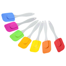 7color Multi-purpose Silicone Paddle Scraper Spatula Utensil Cooking Cake Baking High Temperature for Kitchen mirian sansalone purpose high
