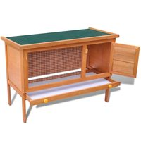 Outdoor Rabbit Hutch Small Animal House Pet Cage 1 Layer Wood Hammock Guinea Pig Rabbit Hanging Bed Cage