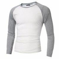 INCERUN 2017 Mens Long Sleeve T Shirts Cotton Casual Slim Fit Crew Round Neck Raglan Baseball