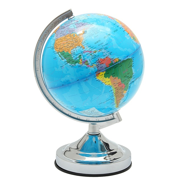 Modern 10W Desk Rotating LED World Globe Lamp Kids Geography Map Earth Gift  For School Home