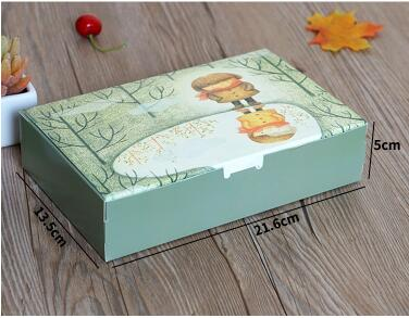 21.6*13.5*5 cm Verde Encantadora Chica Pastel de Luna Caja de Embalaje Cajas de