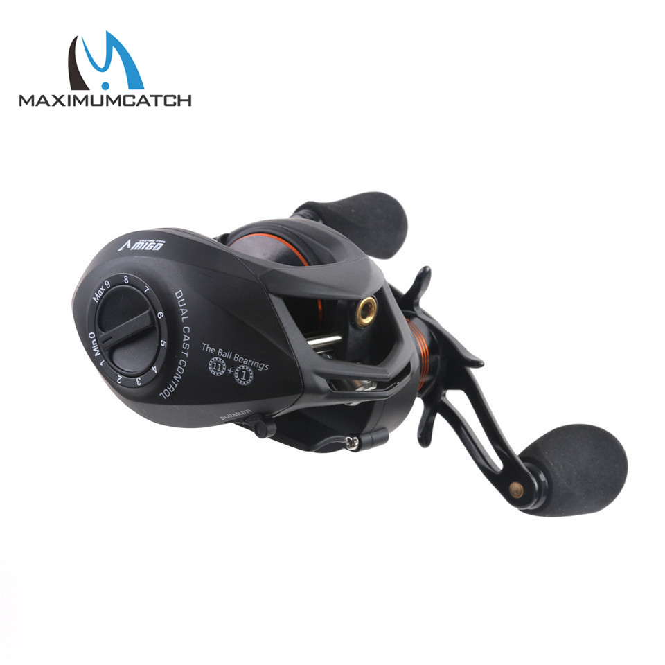 Maximumcatch Amigo Gear Ratio 6.3:1 11+1BB Bait Casting Fishing Reel Left/Right Hand Fishing Reel