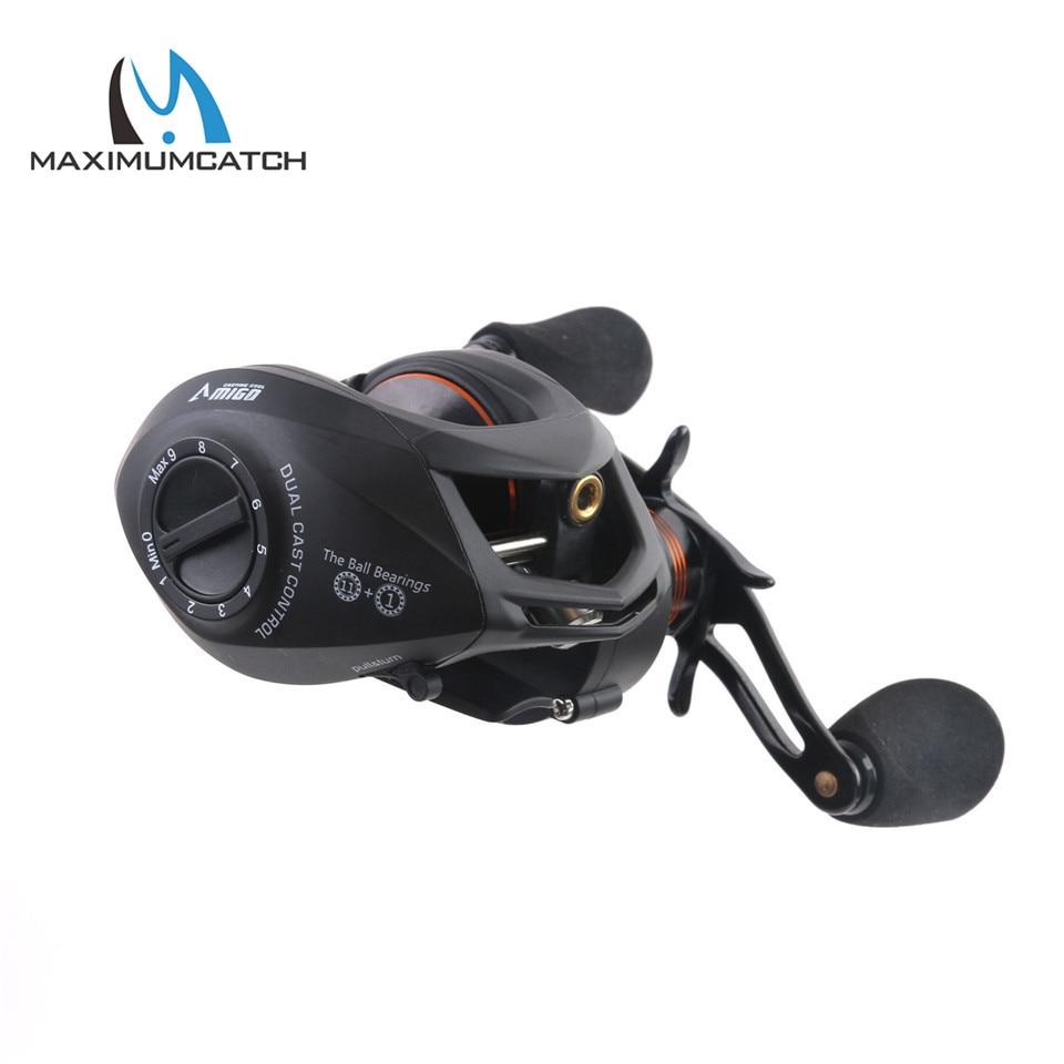 Maximumcatch Amigo Gear Ratio 6.3:1 11+1BB Bait Casting Fishing Reel Left/Right Hand Fishing Reel цена