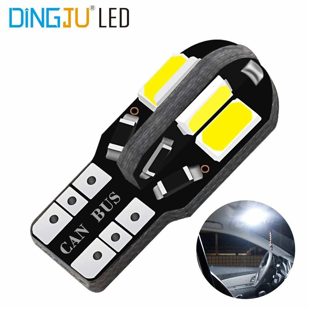1pcs T10 8smd 5730 SMD LED Car Side Wedge Light Lamp W5W Bulb Instrument Panel Lamp Car Interior Bulb Auto Bulb