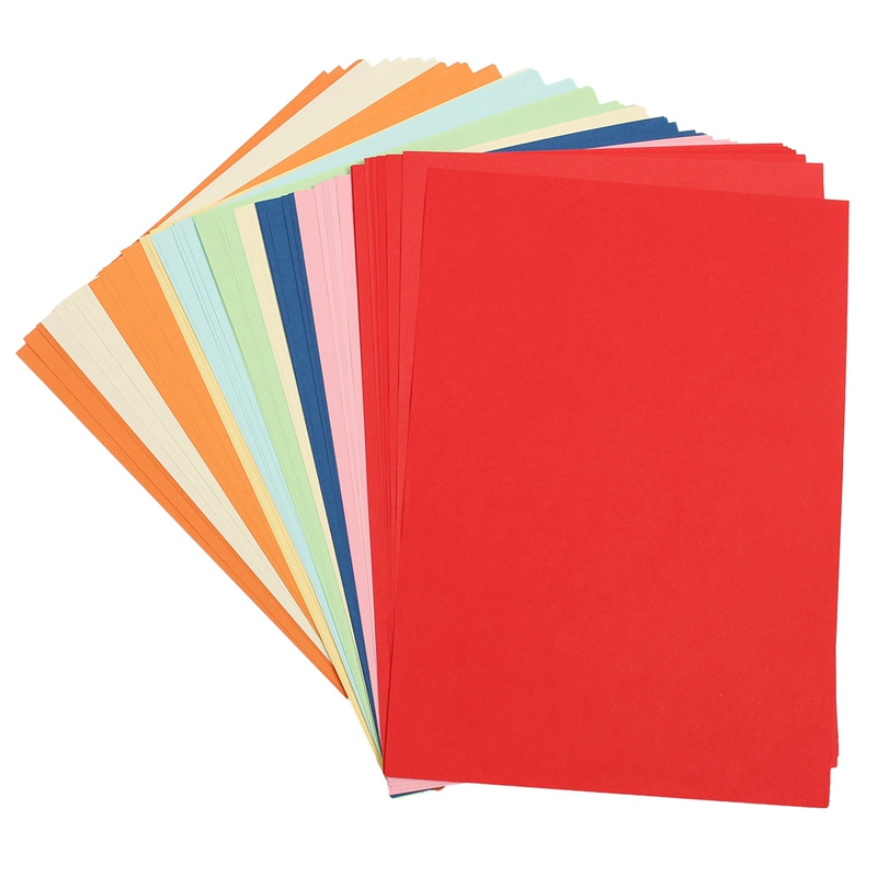 Useful 100pcs diy colored drawing paper a4 paper 10 colors for Diy colored paper