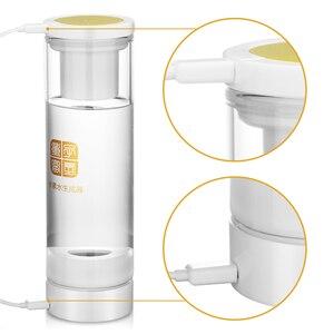 Image 2 - 7.8Hz MRETOH الغنية مولد ماء الهيدروجين زجاج زجاجة المؤين النقي H2 التحليل الكهربائي تعزيز الدورة الدموية كوب الصحة هدية