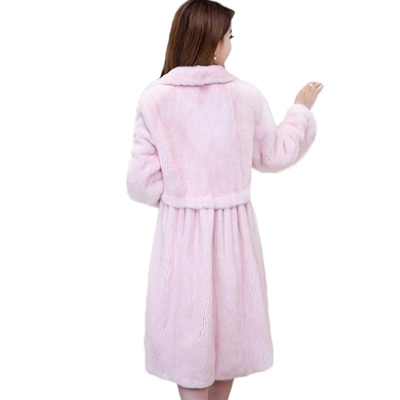 LVCHI Qadın tunikalı moda köynək paltoları Təbii dəri polo - Qadın geyimi - Fotoqrafiya 3
