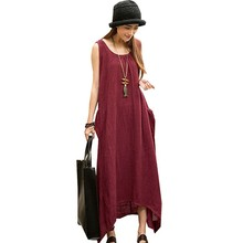 Sleeveless Women Asymmetrical Maxi