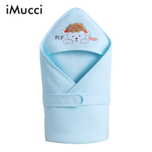 iMucci 100% Cotton Baby Blanket Flannel Envelopes Newborns 80*80CM Cartoon Swaddle Wrap Baby Crib Casual Sleeping Bed Supplies