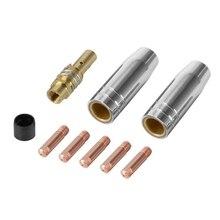 9 шт./компл. 15Ak типа для сварки Mig/Mag сварочный сопла контактные наконечники 0,8 х 25 мм M6 Соединительный газовый держатель комплект Ad068+ CNIM, лидер продаж