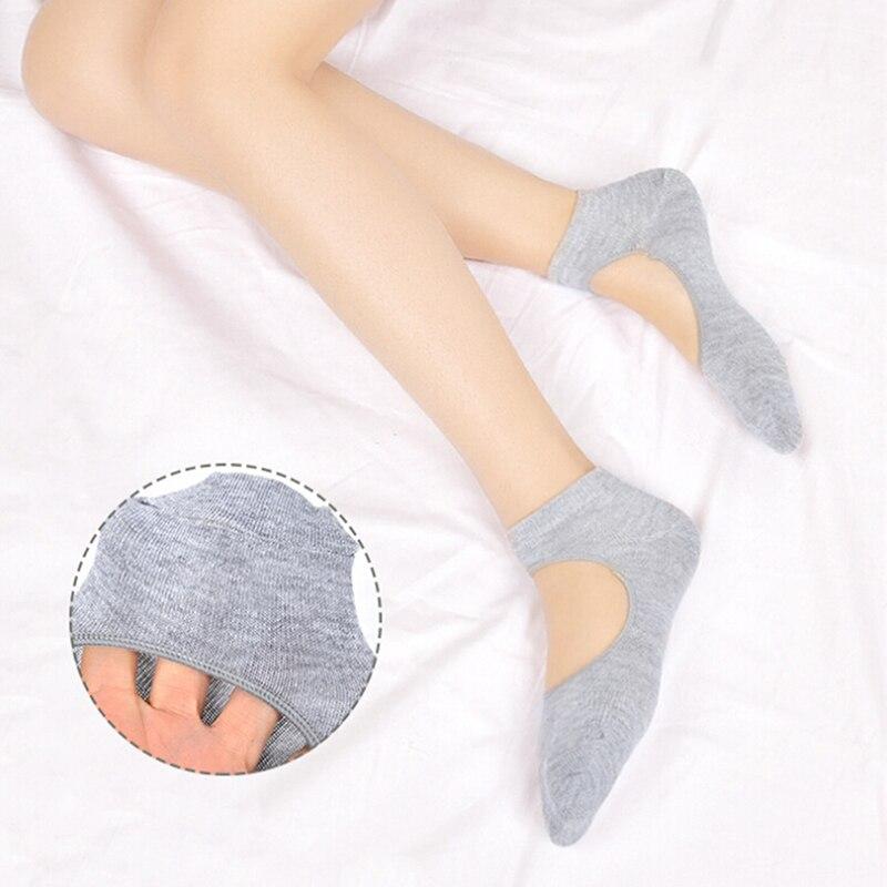 @1  Хлопчатобумажные нескользящие носки Носки для йоги 1 пара Женские носки без спинки Невидимые спортив ★