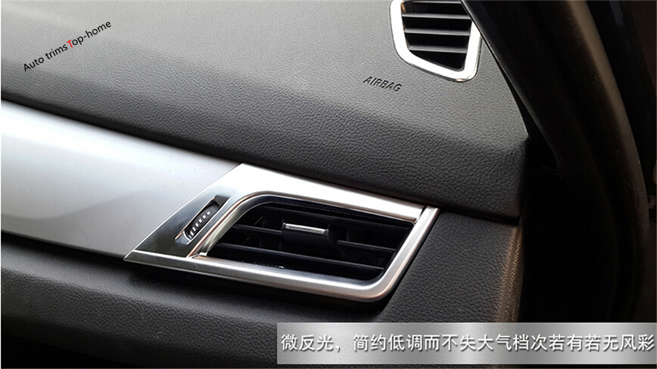 For BMW 2-Series Active Tourer 2015 2016 2017 218i 220i 228i ABS Side Air Conditioning Outlet Vent Decoration Cover Molding Trim