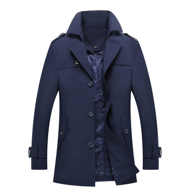 New Arrival Men Trench Coat Spring Autumn Single Breasted Outerwear Casual Male Jacket Casual Men Jacket