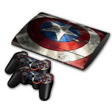 Здесь можно купить   Heros Skins For Sony Palystation 3 super Slim 4000 Console & 2 Controller Avengers Stickers For PS3 Superheroes Decal Games & Accessories
