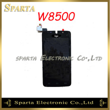 For Philips W8500 LCD Display Touch Screen Digitizer Glass Assembly By With Logo Free Shipping