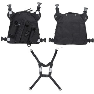 Image 4 - ABBREE Radio Chest Harness Chest Front Pack Pouch Holster Vest Rig for Two Way Radio Walkie Talkie(Rescue Essentials)
