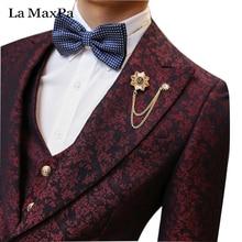 La MaxPa (jacke + pants + weste) marke casual männer anzug männlichen sänger frühling herbst slim fit party hochzeit prom hairstylist kleid anzug