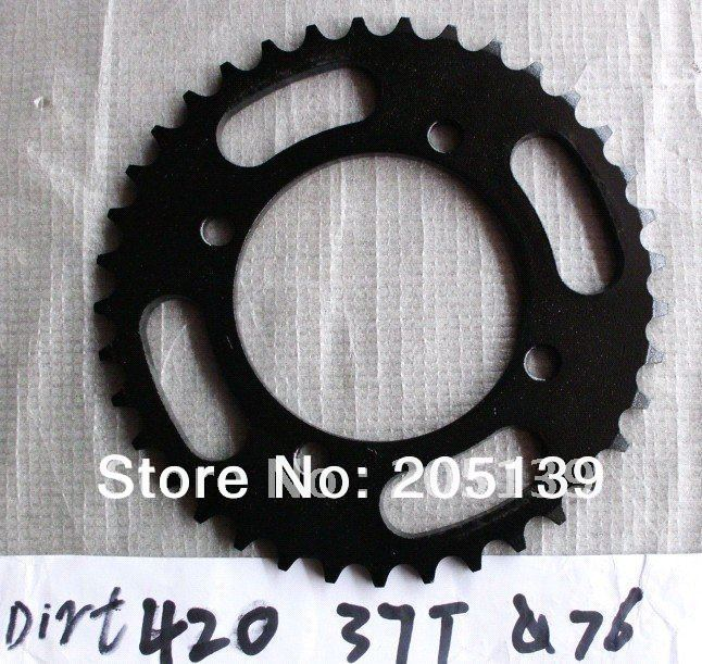 motorcycle parts rear gear sprocket tandwiel 37T tooth 76MM FOR 420 chain for moto atv Dirt pit bike pitbike crf klx ttr image