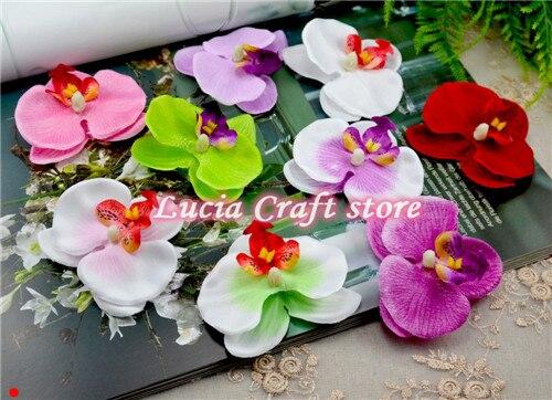 VERKAUF 6 stücke/12 stücke Orchidee Phalaenopsis Blume Köpfe Home Dekoration DIY Multi-verwenden Künstliche Blume CA0407