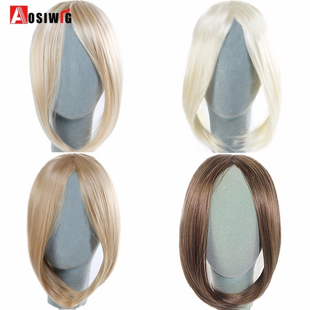 Aosiwig Synthetic Side Middle Part Clip In Clip On Hair Bang