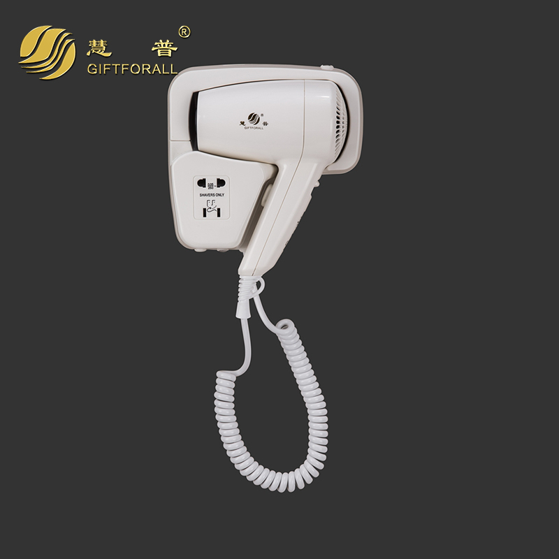 GIFTFORALL Euro Household Hotel Wall-Mounted Hairdryer Hot/Cold Air 210-240V Styling Tools Blow Dryer secador de cabelo 67260 professional hair dryer 2200w 220v ion hair care styling tools secador de cabelo fashion hot cold nano titanium hairdryer
