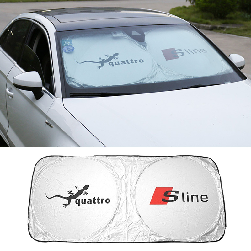 Dupont Car Front Windshield Sunshade For AUDI A1 A2 A3 A4 A5 A6 A7 A8 Q3 Q5 80 100 B5 B7 B8 C5 C6 TT S line S3 S4 S8 R8 RS 2pcs led logo door courtesy projector shadow light for audi a3 a4 b5 b6 b7 b8 a6 c5 c6 q5 a5 tt q7 a4l 80 a1 a7 r8 a6l q3 a8 a8l