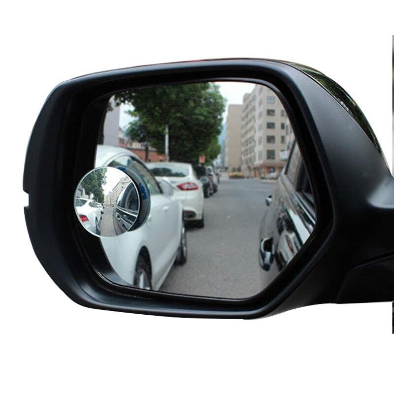 1 пара зеркало заднего вида авто Blind Spot Mirror 360 градусов Широкий формат Круглый выпуклый Грузовик Мотоцикл сбоку сзади Парковка Безопасности