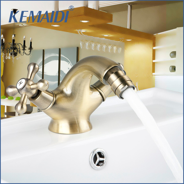 KEMAIDI Good Quality DS8462 2 Antique Inspired Solid Brass Bidet ...