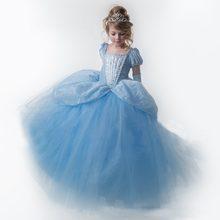 617e8e7d4 عيد الميلاد فساتين للفتيات الأميرة اللباس سندريلا اللباس الأطفال كرنفال زي  للأطفال حزب فساتين