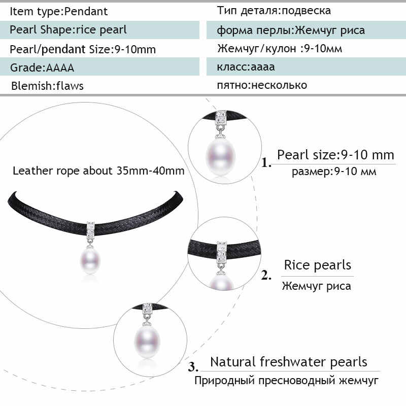 Nimfa perła naszyjnik wisiorek naturalne słodkowodne Choker naszyjnik kamień New Trendy Fine Jewelry dla kobiet Party [D230]