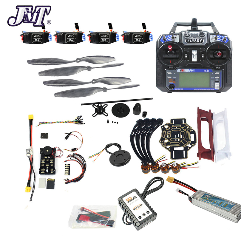 JMT DIY FPV Drone Quadcopter 4-axle Aircraft Kit 450 Frame PXI PX4 Flight Control 920KV Motor GPS FS-i6 Transmitter