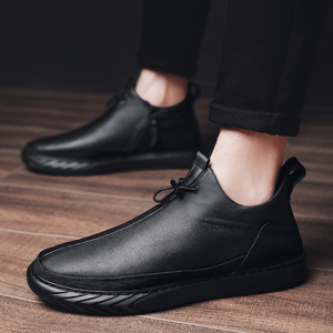 Image 3 - Genuine Leather Shoes Men Brand Footwear Non slip Thick Sole Fashion Mens Casual Plus velvet Sneakers Male High Quality zapatos