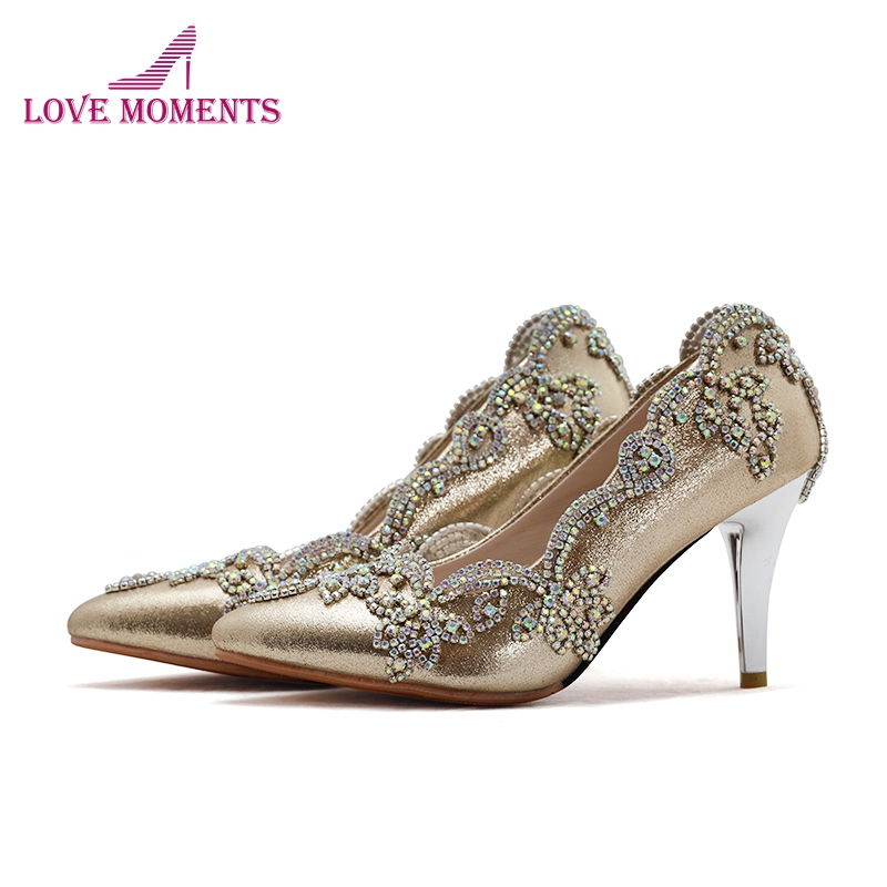 2018 Gorgeous Bridal Shoes Pointed Toe Wedding Party Shoes 7cm Kitten Heel Prom Party Shoes Fuchsia Gold Blue Plus Size 12 13 цены онлайн