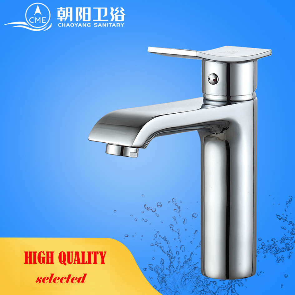 CME ceramic plate spool bathroom faucet deck mounted basin faucet hot and cold water mixer polished chrome basin tap L106 sognare square chrome bathroom faucet deck mounted basin mixer faucet hot and cold water tap single handle bathroom mixer d1108