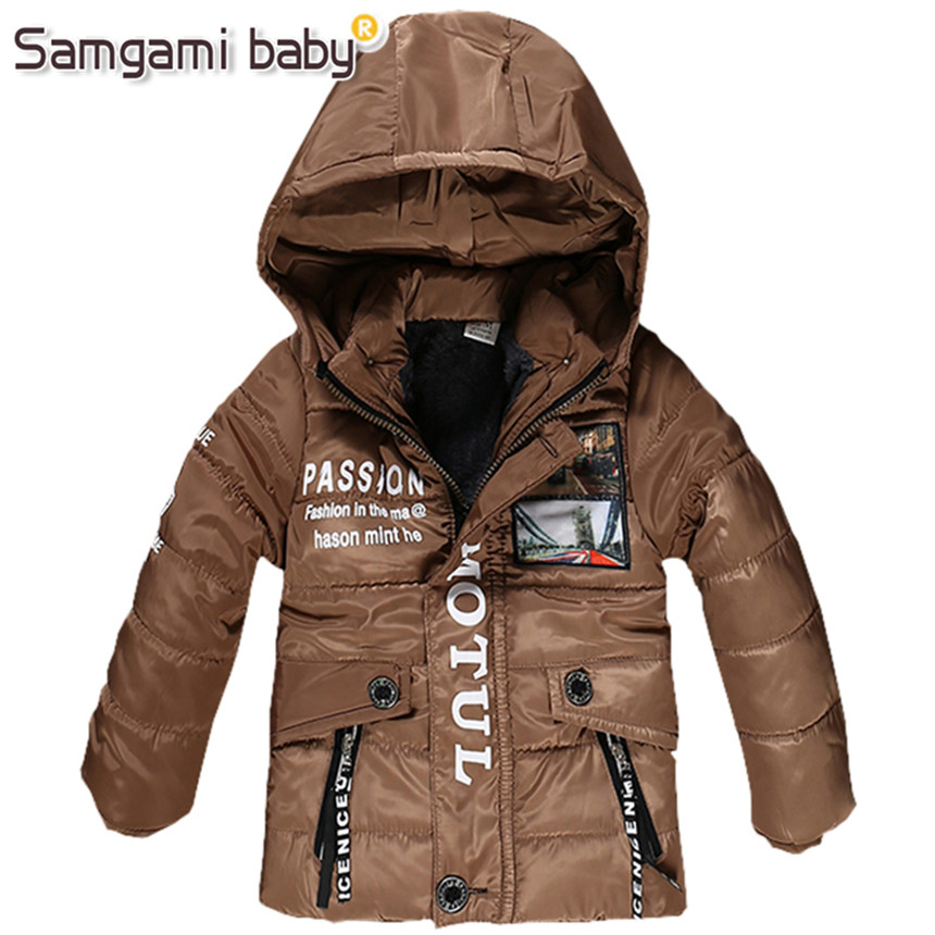 SAMGAMI BABY 3-7Year Boys Coats and Jackets 2018 Retail Winter Hooded - Children's Clothing