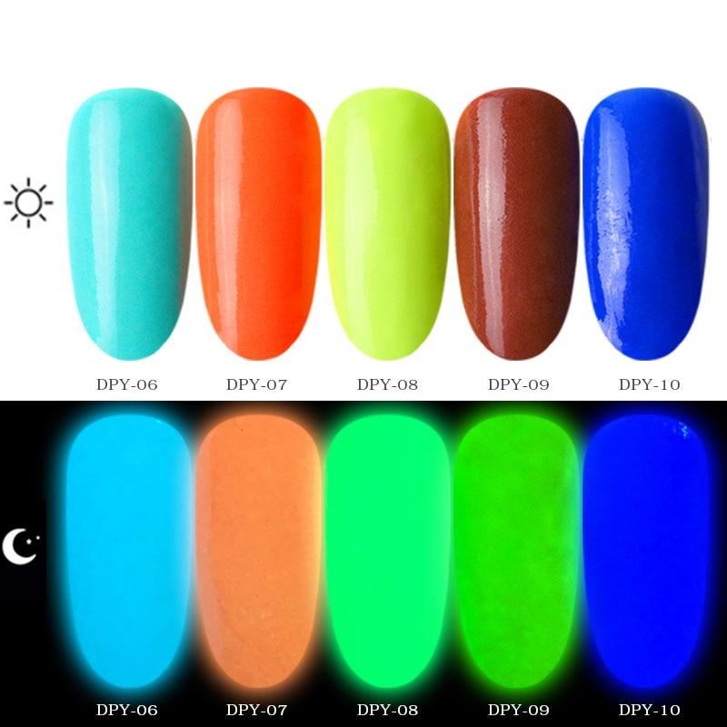 Image 4 - New 1box Neon Phosphor Dipping Powder Luminous Nail Art Decorations Fluorescent Glitter Glow Pigment Dust UV Gel Polish Design-in Nail Glitter from Beauty & Health