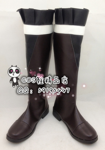 DIABOLIK LOVERS Komori Yui Daily Brown Halloween Cosplay Shoes Boots X002
